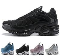 Wholesale popular shoes unisex resale online - 2018 new Men women Tn Plus Mens Designer Shoes Vm Olive In Metallic Running Shoes popular Men s Sports Running Shoe Dropshipping Accepted