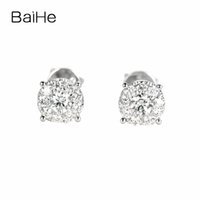 Wholesale natural diamond stud for sale - Group buy BAIHE Solid K White Gold ct Total F G SI Genuine Natural Diamonds Engagement Women Trendy Fine Jewelry Gift Stud Earrings S923