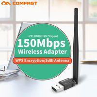 pc wifi inalámbrico usb al por mayor-150mbps usb wifi ethernet adapter 802.11n wireless wifi antenna 5dbi usb pc wi fi dongles señal usb lan adaptador de tarjeta CF-WU755p