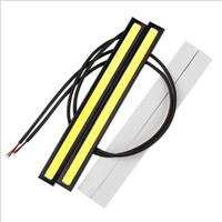 parlak ışıklar otomatik toptan satış-10 Adet güncelleme Ultra Parlak LED Gündüz Farları DC 12 V 17 cm Su Geçirmez Oto Araba DRL COB Sürüş Sis lambası