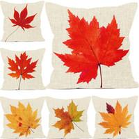 ingrosso acero cuscino foglia-Foglia autunnale Maple Leaf serie cuscini calore tecnologia sublimazione lavare e sbiadire cuscini decorativi cuscini cuscino copertura del cuscino