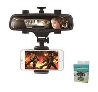 rückspiegel gps halterungen großhandel-Universal 360 Grad Auto Rückspiegelhalterung Telefonhalterung Telefonhalterung Steht für iPhone Samsung HTC GPS Smartphone-Modell 2
