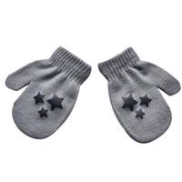 варежки для детей оптовых-Детские дети пятиконечная звезда шаблон перчатки мальчики девочки зима теплая вязаные варежки серый Бесплатная доставка