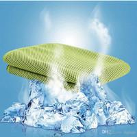 ingrosso bracciali di tovagliolo-Asciugamano freddo Estate Sport Ice Cooling Asciugamano Sciarpe Pad Neck Tie Wristband Fascia 30 * 100 cm Per I Bambini Sportivi Adulto Spedizione Gratuita
