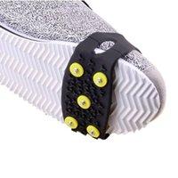 ingrosso crampon scarpe di copertura-5 Borchie Picchi di ghiaccio per scarpe Pattini di ghiaccio Ramponi Ramponi invernali all'aperto Arrampicata su neve Grip antiscivolo per scarpe Covers Ramponi
