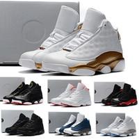 tenis basketbolu toptan satış-Nike air jordan 13 retro ÇOCUKLAR 13s Basketbol Ayakkabıları Bir Penny Hardaway Çocuk Tenis KABUK Patlıcan Basketbol Spor Ayakkabı Açık Atletik Sneaker ayakkabı Eur 41-47