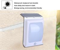 Wholesale wireless security sensors for sale - 16 LED Waterproof PIR Motion Sensor Light Solar Powered Wireless Outdoor Garden Landscape Yard Security Wall Lamp