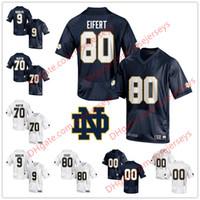 083f2ad76 Notre Dame Fighting Irish College Football #80 Tyler Eifert 9 Kyle Rudolph 9  Jaylon Smith 70 Zack Martin white navy blue Stitched Jerseys