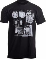 o камера оптовых-Print T Shirt O-Neck Short 1938 Graflex Speed Graphic Camera Патентный рисунок Фотограф Unisex T-Shirt