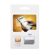 32gb sd kart bellek kartı toptan satış-Sınıf 10 EVO 64GB 32GB 16GB 8GB Mikro SD Kart Micro SD TF Bellek Kartı C10 Flaş SDHC SD Adaptör SDXC Beyaz Turuncu Perakende Paket