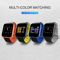Wholesale mini camera waterproof online - Q8 Mini Smart Watches inch Blood Pressure Heart Rate Monitor Smart Bracelet Sleep Fitness Tracker for Android IOS phones
