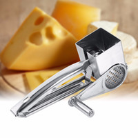 Wholesale toy utensils resale online - Christmas Stainless Steel Rotary Cheese Tools Cheese Grater Slicer Shreds Drum Hand Held Ginger Graters Cutter Kitchen Utensils Toys