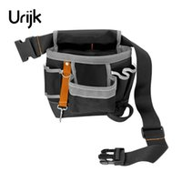 Wholesale pockets electrician bag - Urijk 600D Oxford Tool Bag Belt Waist Bag Pouch Waist Pocket Outdoor Work Hand Tools Hardware Storage Electrician Gardening Tool