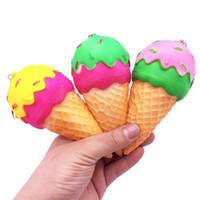 искусственный крем оптовых-Squishy искусственный хлеб ПУ медленный отскок вентиляции декомпрессии мороженое Squeeze игрушка Squishies цвет мультфильм Шарм 7 8lc Вт