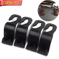 hook clip hanger Canada - TopAuto 4Pcs Car Hook Hanger Car Seat Hooks for Grocery Shopping Rack Clip Headrest Hook Auto Accessories