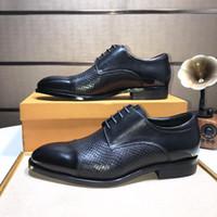 marca sapatos de festa homens venda por atacado-Marca Moda Masculina Couro Genuíno Pele De Crocodilo Oxfords Estilo Britânico Lace Up Sapatos de Festa de Casamento dos homens Flats