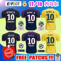Wholesale Men S Chinese Shirts - Thialand Maillot de foot MBAPPE NEYMAR JR + Chinese Print soccer jerseys 2018 CAVANI DANI ALVES jersey 17 18 football shirt survetement