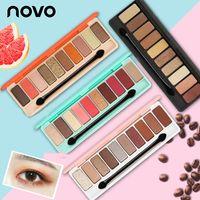 Wholesale colorful palette resale online - Novo COLORS Make up Shimmer D Colorful Powder Wet Glitter Eye Shadow Earth Color Palette Eyeshadow Nude Palette