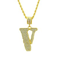 Wholesale Hip Hop Necklace Full Rhinestone Alloy Present Bling Bling Iced Out Choker Chain Rapper Basketball Jewelry fast
