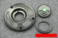 zx6r gastanks großhandel-Motorrad CNC Aluminiumlegierung kraftstofftank abdeckkappe öl / gastank modifizierte abdeckung Für Kawasaki Z800 ZX10R ZX6R Z750 Z1000 NINJA 1000 ER6N