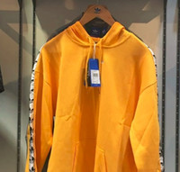 Wholesale taped jacket - NWT Mens Tape Hoodie In Yellow BS4669 Jacket Pullover Hoodies