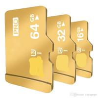 unidad flash usb sd micro al por mayor-New Gold 128GB 64 GB 32G 16 gb Tarjetas Micro Sd Class10 Tarjeta de memoria Unidad de memoria flash USB Accesorios para tarjetas de almacenamiento TF 103