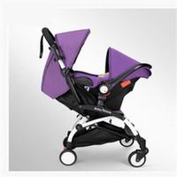 kinderwagen sonnenschirme großhandel-Marke Kinderwagen 3 in 1 Taschenschirm Baby Auto Multifunktions Babys Kutschen mit Auto Safe Sitze Freies Drop Shipping