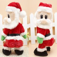Wholesale Christmas Electric Santa - Hot selling 2017 Christmas Santa Claus Figure Twisted Hip Twerking Singing Electric Toys for kids child's besy gift #JD loviny