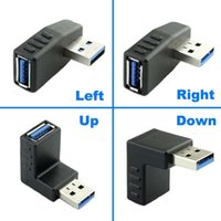 sol kablo toptan satış-90 Derece Sol Sağ Açı USB 3.0 Tip A Erkek Kadın adaptör Uzatma Kablosu