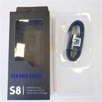 galaxie usb draht großhandel-Für Galaxy S8-Kabel USB-Typ-C-Schnellladekabel 2.1A 1.2m Sync-Datenkabel mit Schnellladung für Samsung s8 s8 plus
