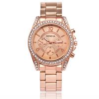 Wholesale geneva fashion watches for sale - 2018 NEW unisex mens women geneva diamond alloy metal watch fashion luxury ladies casual dress quartz watches