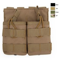 Wholesale molle pouches accessory online - Outdoor Sports Tactical Backpack Vest Gear Accessory Mag Holder Cartridge Clip Pouch Tactical MOLLE Magazine Pouch NO11