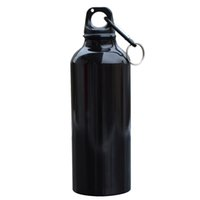Wholesale aluminum drinking water - 500ml Aluminum Alloy Drinking Drinkware Kettle Sports Camping Hiking Cycling Climbing Bicycle My Water Bottle With Carabiner