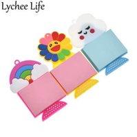mutfak dekoratif etiketleri toptan satış-Lychee Hayat Gökkuşağı Not Kağıt Buzdolabı Mıknatısı Renkli Buzdolabı Manyetik Sticker DIY Dekoratif Mutfak Ev Dekorasyon