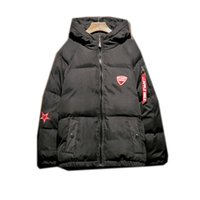 Wholesale cotton bread pad - hooded parka Winter Bread Serve Cotton-padded Clothes Loose Coat Jacket jaket men outerwear Smart Casual New Arrivals