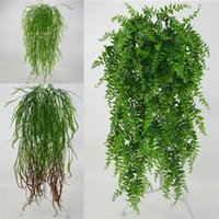 Wholesale home decor online - Fake Artificial Plants Fashion Plastic Simulation Wall Hanging Plant For Home Hotel Party Decoration Decor Flower Vine Accessorie yy UU