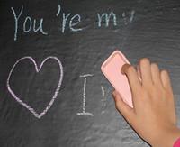 selbstklebendes tafelpapier großhandel-50 teile / los Schnelles verschiffen 30 * 40 cm DIY tapeten Tafel Wall Decal Removable Aufkleber Kreide Bord Für kind