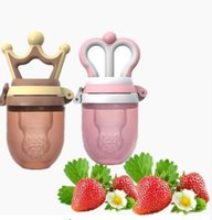 Wholesale Fresh Milk - Lovely baby Pacifier Princess and prince baby fruit pacifier Clips Fresh Food Milk Nibbler Feeder Baby Nipple Bottles KKA4168