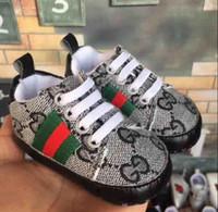sapatos de criança de sola de couro venda por atacado-O ENVIO GRATUITO do Bebê Das Meninas Dos Meninos Sola Macia Sapatos de Crib PU de Couro Anti-slip Sapatos Criança Sneakers 0-18 M