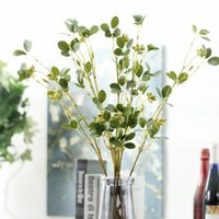 preciosas decoraciones al por mayor-Plástico Flor verde Vid Artificial Ramas ricas y preciosas Hoja de jazmín Flores falsas Organizar suministros para la decoración de la boda 5 3jm BB