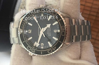 Wholesale ocean dive watches - New Top Factory Automatic Cal 8500 Watch Black Ceramic Calendar Ocean Watches Full Steel Bond 007 Dive 600m Planet Luminous Wristwatches