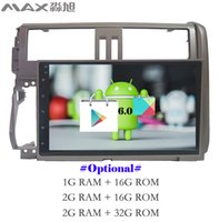 Wholesale Touch Screen Radio For Prado - Android 6.0 Car DVD Player for Toyota prado  LC150  150 2010 2011 2012 2013 with Radio BT 4G WIFI SWC free map