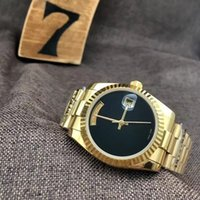 Wholesale unique sapphires - AAA new luxury fashion men's watch automata solid steel watch and black pearl calendar classic simple unique wristwatch