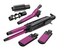 Wholesale hot tools curling irons resale online - Multi function hair curler Six in one electric hot plywood dual use hairdressing tools Fashion wavy curly hair artifact curling iron