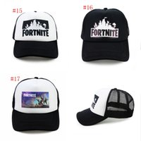 Wholesale women hip hop hats - 17 colors Fortnite man baseball cap male snapback summer Breathable hats man hip hop hat for women funny Quick drying caps 30pcs MMA177