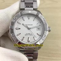Wholesale Cheap Divers Watches - Brand Aquaracer Diver 300m Calibre 5 White Dial WAY2111.BA0928Automatic Mens Watch Stainless Steel Band Luxury High Quality Cheap New Watch