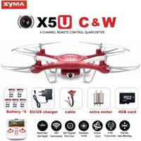 Wholesale syma x5uw for sale - SYMA X5UW X5UC FPV RC Drone With P WiFi MP HD Camera G CH Axis Quadcopter Helicopter Height Hold One Key Land Dron