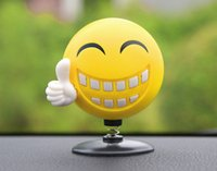 Wholesale car interior perfumes for sale - Car Ornament ABS Cute Shaking Head Happy Face Perfume Decoration Auto Interior Smile Energy Lovely Air Freshener Solid Balm