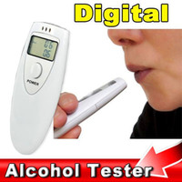 ingrosso visualizzatore lcd breathalyzer-Tascabile portatile Mini Display LCD Digital Alcohol Tester Analyzer Etilometro Detector Test Testing accessori auto styling