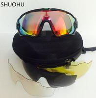 ingrosso marche di occhiali da bicicletta-Occhiali da sole moda con 5 occhiali da sole polarizzati marca jawbreaker occhiali da sole per uomo donna sport ciclismo occhiali da sole da corsa in bicicletta da uomo